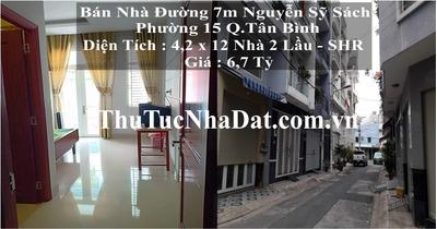 Bán nhà đẹp hẻm 7m đường Nguyễn Sỹ Sách P.15 Q.Tân Bình