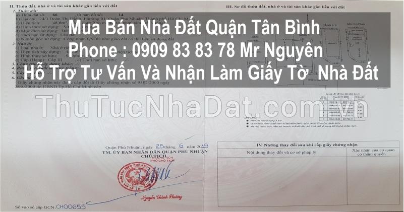 Bán nhà HXH Hẻm 31 Đồng Xoài P.13 Tân Bình thông ra Bình Giã