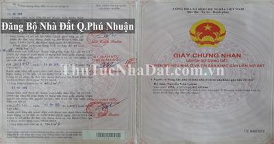 Dịch Vụ Đăng Bộ Nhà Đất Quận Phú Nhuận