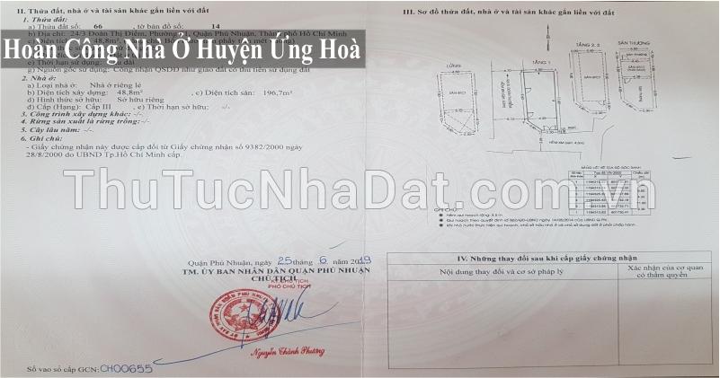 Dịch Vụ Hoàn Công Nhà Ở Huyện Ứng Hoà