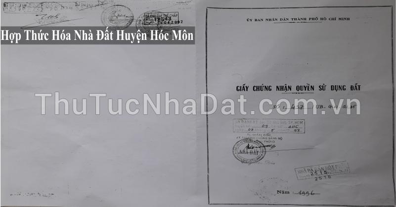 Dịch Vụ Hợp Thức Hóa Nhà Đất Huyện Hóc Môn