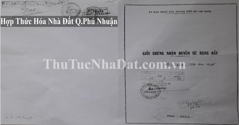 Dịch Vụ Hợp Thức Hóa Nhà Đất Quận Phú Nhuận