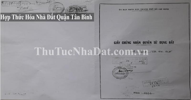 Dịch Vụ Hợp Thức Hóa Nhà Đất Quận Tân Bình