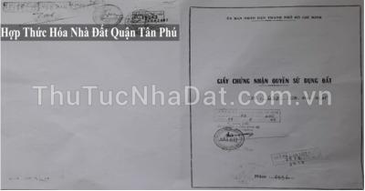 Dịch Vụ Hợp Thức Hóa Nhà Đất Quận Tân Phú