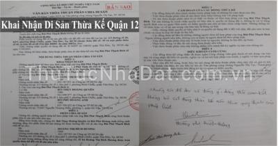 Dịch Vụ Khai Nhận Di Sản Thừa Kế Quận 12