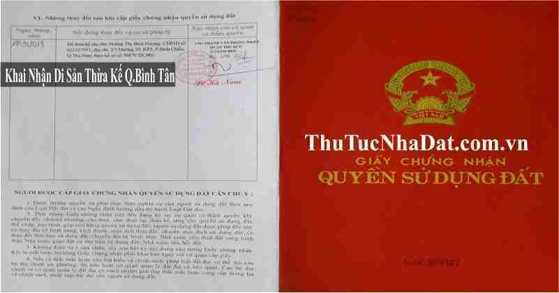 Dịch Vụ Khai Nhận Di Sản Thừa Kế Quận Bình Tân
