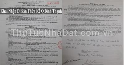 Dịch Vụ Khai Nhận Di Sản Thừa Kế Quận Bình Thạnh