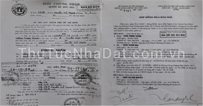 giấy chứng nhận nhà đất cũ
