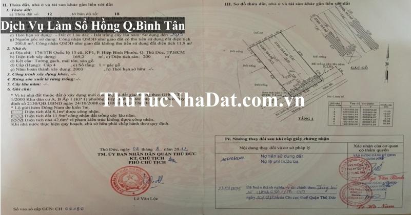 Dịch Vụ Làm Sổ Hồng Quận Bình Tân