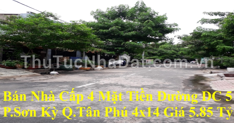 Nhà Mặt Tiền DC 5 Phường Sơn Kỳ Tân Phú (cách lế trọng tấn chỉ 150m )